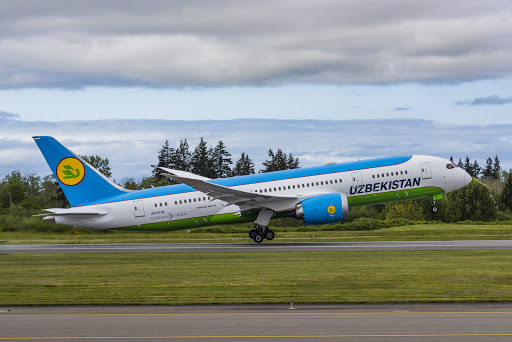 Boeing Delivers Aid To Uzbekistan On A Brand New 787 Dreamliner