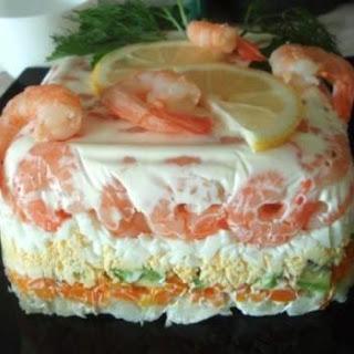 Fitness Salad With Shrimp And Avocado