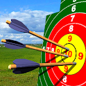 Crossbow shooting gallery. Shooting simulator icon