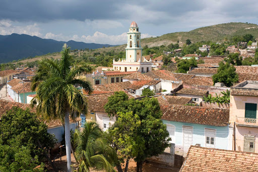 Cuba-Landscape-with-Church-Tower_01.jpg - The town of Trinidad, Cuba, is close to Cienfuegos, Cuba.