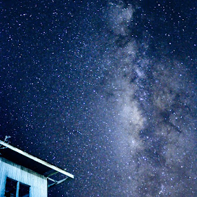 roof under sky by Saniyil Bansai - Landscapes Starscapes