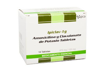 Amoxicilina + Ácido clavulánico Ipiclav 875/125Mg Tab. Caja X14Tab Ipc