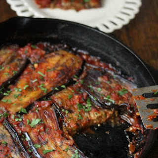 Turkish Eggplant Casserole with Tomatoes (Imam Bayildi).