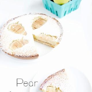 Pear + Raspberry Frangipane Tart