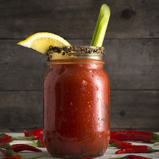 Hot Slow Cooker Bloody Mary.