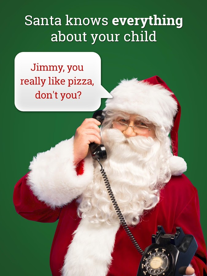 message from santa phone call voicemail text android apps