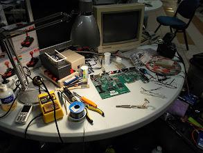 Photo: Commodore A1200 en cours de réparation