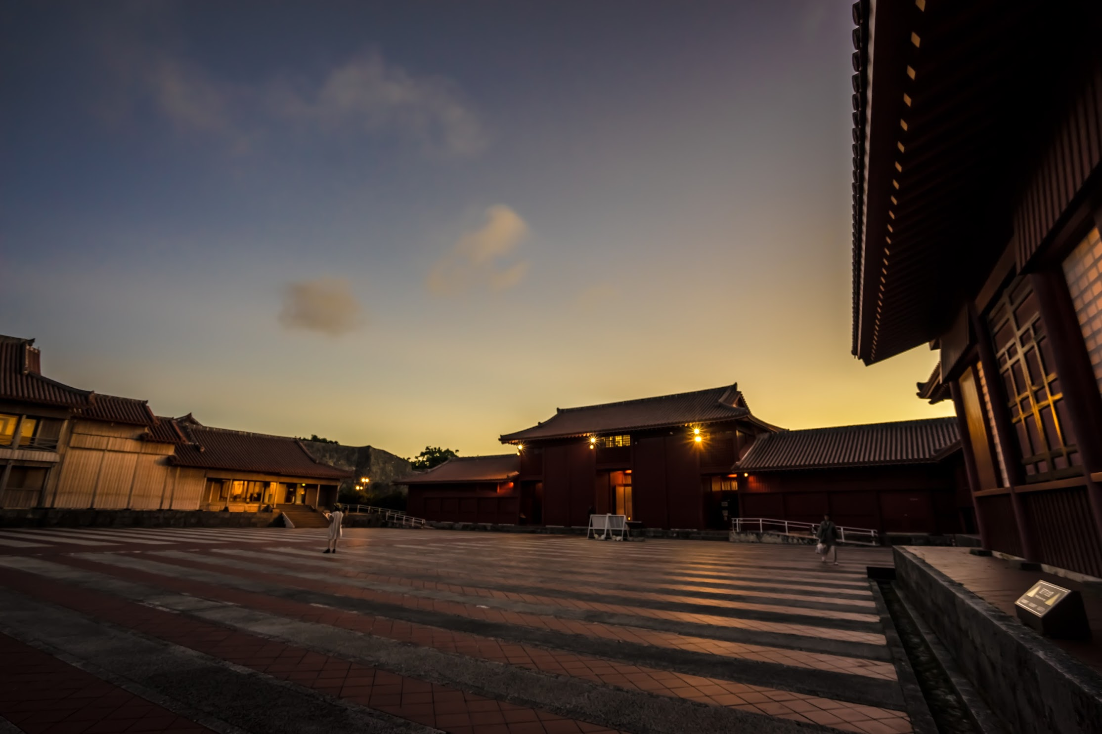 Shurijo Castle Garden evening view