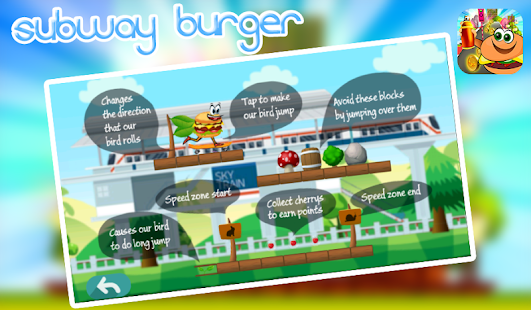 subway burger: surf and run- endless game - náhled