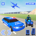 US Police ATV Quad: Transporter Game icon