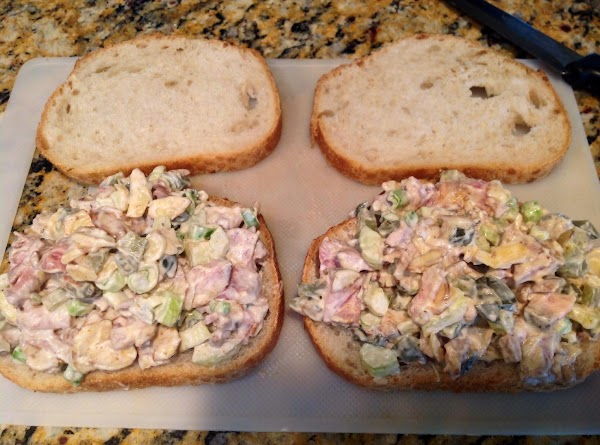 Place mixture between two slices of Sour Dough French Bread or a bread of...