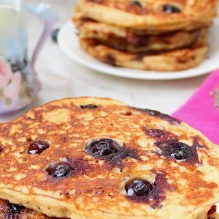 Blueberry Multi-Grain Yogurt Pancakes