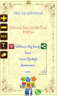 Birthday invitation card maker android apps on google play birthday invitation card maker screenshot thumbnail stopboris Images