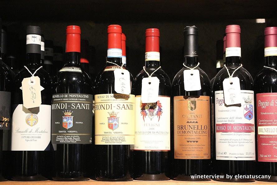 brunetto di montalcino, biondi santi, montalcino, enoteca, wine shop