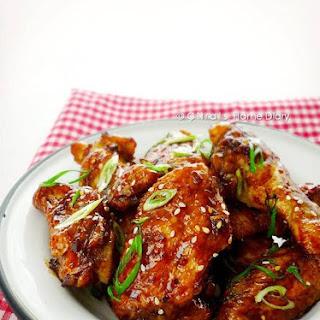 Oven Baked Honey Garlic Chicken Wings
