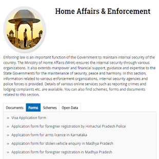 Indian Government Portal - náhled