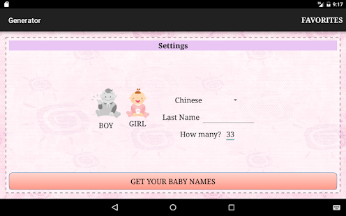 Quick Baby Names Generator - Android Apps on Google Play