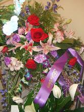 Photo: the flowers Mommy & Leonard got for him