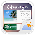 Change GO Weather Widget Theme icon