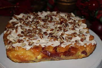 Doughnut And Bacon Eggnog Bread Pudding Recipe
