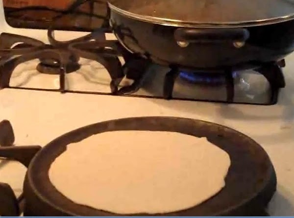 Keep a butter knife or pie cutter handy. Flipping tortillas is hard and you...