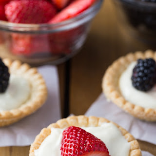 Cream Cheese Tarts Topped with Fruit.
