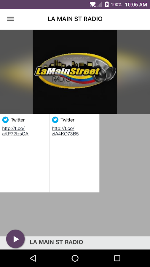 LA MAIN ST RADIO: captura de pantalla