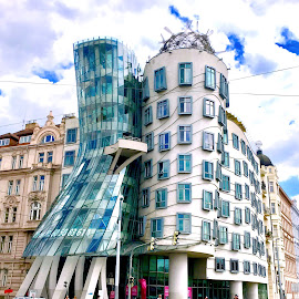 Fred and Ginger Building, Prague by Timothy Carney - Buildings & Architecture Public & Historical ( unusual buildings, fred and ginger, prague, czech )