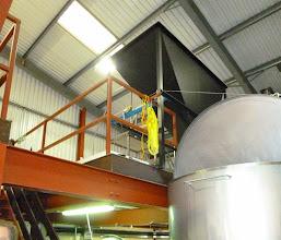 Photo: grist case at mezzanine floor level where malt is stored