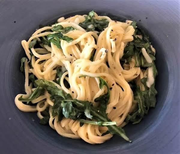 Spaghetti With Pecorino Romano & Arugula