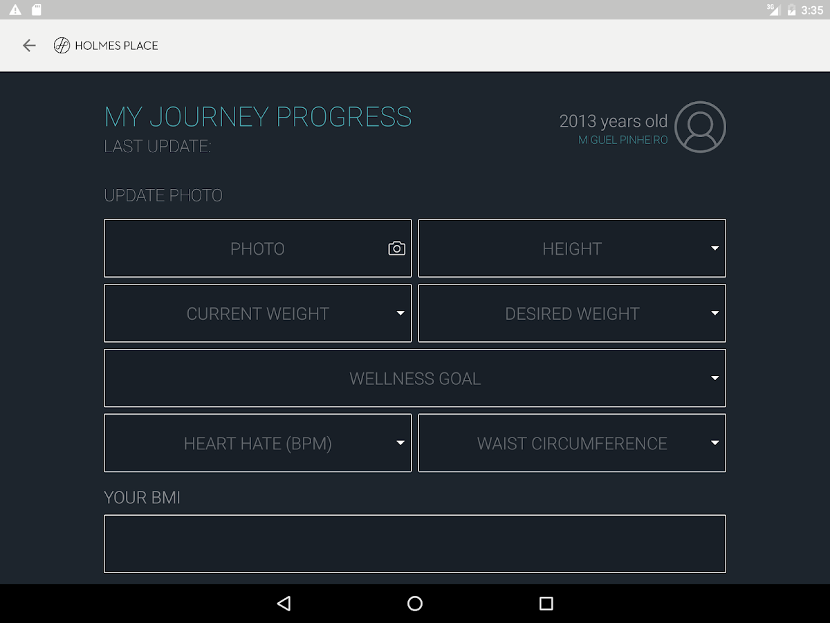 Holmes Place Journey App- screenshot