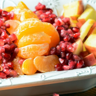 Winter Fruit Salad with Cinnamon Vanilla Dressing Recipe