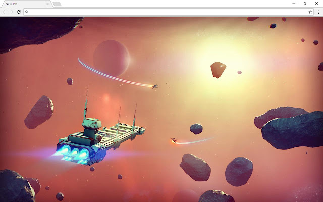 No Mans Sky New Tab Page