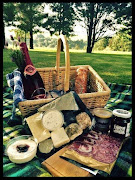 Grad a picnic basket prepared with a selection of cheeses from Swissland Cheese.
