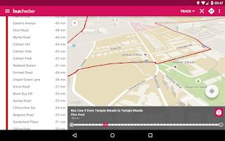 Screenshot of TravelWest Bus Checker
