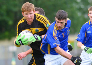 Photo: Gary Mc Closkey in action against Aughawillan, SFC 2012