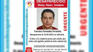 Cartel difundido por la Asociación SOS Desaparecidos.