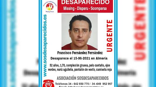 Aparece en buen estado el hombre de 52 años desparecido el martes en Dalías