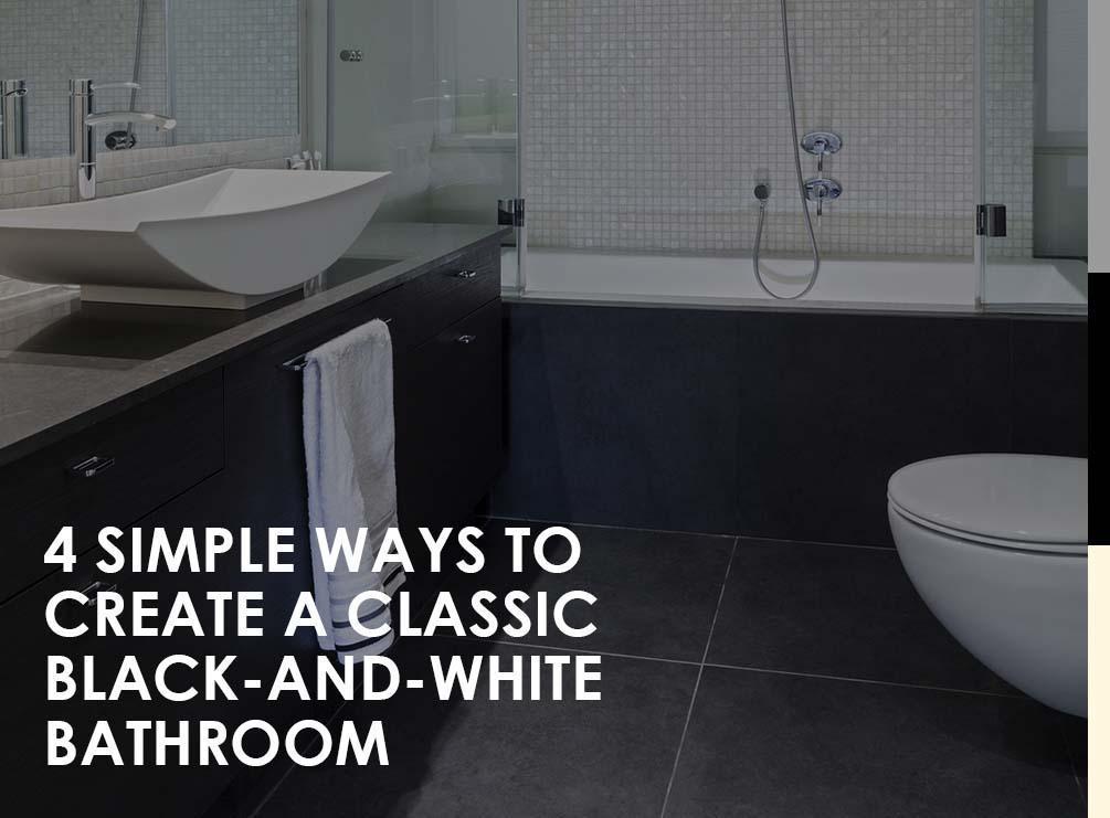 classic black and white bathroom - Simple Bathrooms Birmingham Phone Number