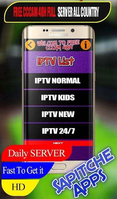 Sapitche - Daily IPTV & CCCAM SERVER APK Download - Apkindo co id
