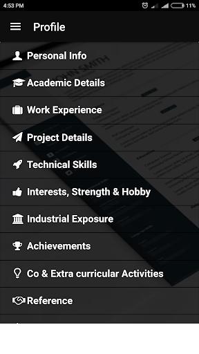Free resume builder CV maker templates PDF formats 7.8 screenshots 2