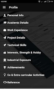 Resume Builder CV Template PDF Format Freshers Exp - náhled