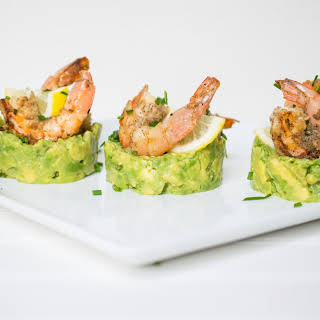 Grilled Shrimp + Avocado Appetizer.