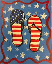 Photo: Patriotic Flip Flops