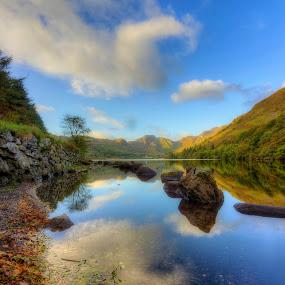 Calm Lake HDR Saturated pix.jpg