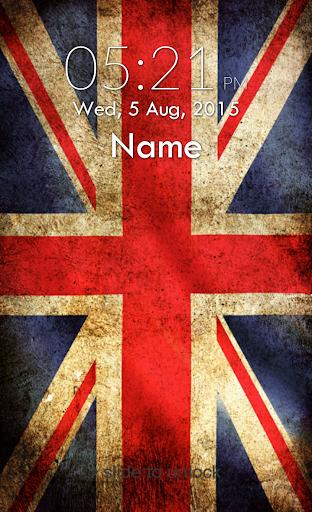 UK Flag Keypad Lock Screen