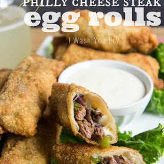 Philly Cheese Steak Egg Rolls.