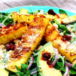 Grilled Pineapple Salad with Coconut and Lime Dressing Recipe