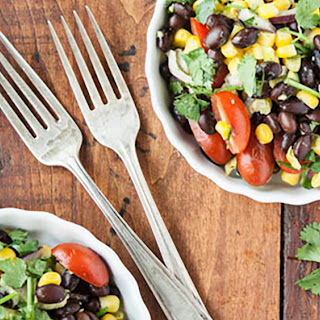 Black Bean + Corn Salad with Cilantro-Lime Dressing Recipe