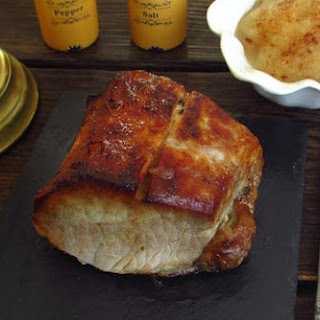 Pork Loin With Pippin Apple Puree